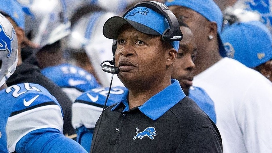 DETROIT, MI - OCTOBER 25: head coach Jim Caldwell of the Detroit Lions looks on from the side line during the second half of the game against the Minnesota Vikings during an NFL game at Ford Field on October 25, 2015 in Detroit, Michigan. (Photo by Dave Reginek/Getty Images)