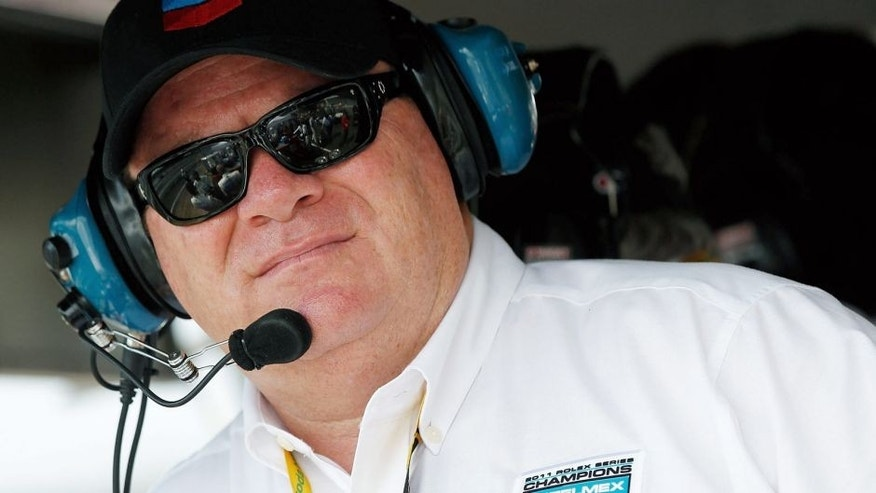 INDIANAPOLIS, IN - JULY 27: Chip Ganassi stands in the pits during the Grand-AM Rolex Sports Car Series Inaugural Brickyard Grand Prix at Indianapolis Motor Speedway on July 27, 2012 in Indianapolis, Indiana. (Photo by Tyler Barrick/Getty Images for NASCAR)