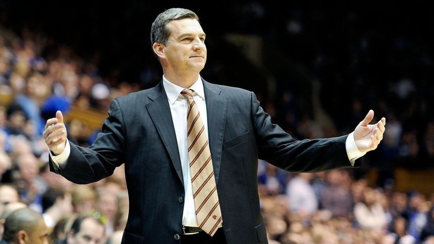 DURHAM, NC - FEBRUARY 15: Head coach Mark Turgeon of the Maryland Terrapins watches the game against the Duke Blue Devils at Cameron Indoor Stadium on February 15, 2014 in Durham, North Carolina. (Photo by G Fiume/Maryland Terrapins/Getty Images) *** Local Caption *** Mark Turgeon