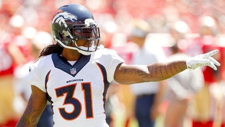 Aug 17, 2014; Santa Clara, CA, USA; Denver Broncos strong safety Omar Bolden (31) waves to fans before the start of the game against the San Francisco 49ers at Levi's Stadium. Mandatory Credit: Cary Edmondson-USA TODAY Sports