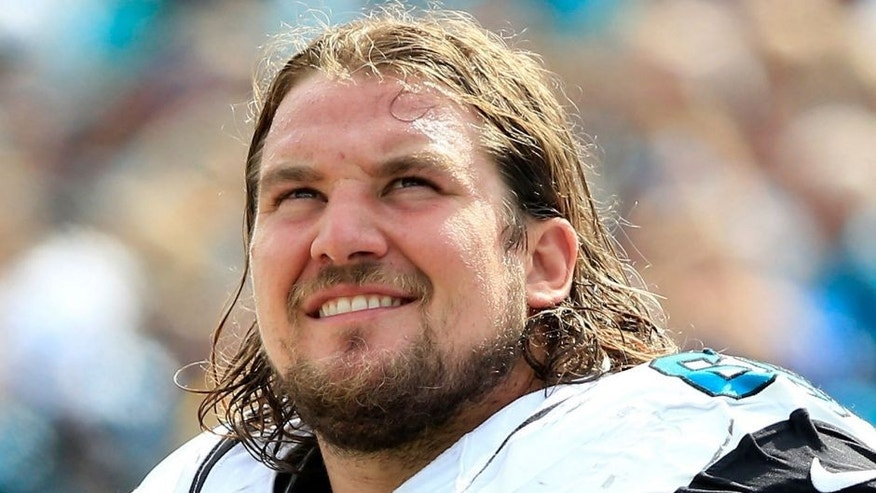 JACKSONVILLE, FL - SEPTEMBER 13: Zane Beadles #68 of the Jacksonville Jaguars watches the action during the game against the Carolina Panthers at EverBank Field on September 13, 2015 in Jacksonville, Florida. (Photo by Sam Greenwood/Getty Images)