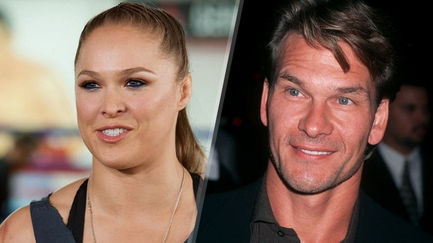 Undefeated UFC women's bantamweight champion Ronda Rousey host Media Day Ahead of her Rousey Vs. Holm Fight on October 27, 2015 in Glendale, California. (Photo by Earl Gibson III/WireImage) Actor Patrick Swayze attends the premiere of '3 Wishes' on October 24, 1995 at the Academy Theater in Beverly Hills, California.