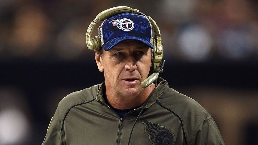 NEW ORLEANS, LA - NOVEMBER 08: Head coach Mike Mularkey of the Tennessee Titans watches action during a game against the New Orleans Saints at the Mercedes-Benz Superdome on November 8, 2015 in New Orleans, Louisiana. (Photo by Stacy Revere/Getty Images)