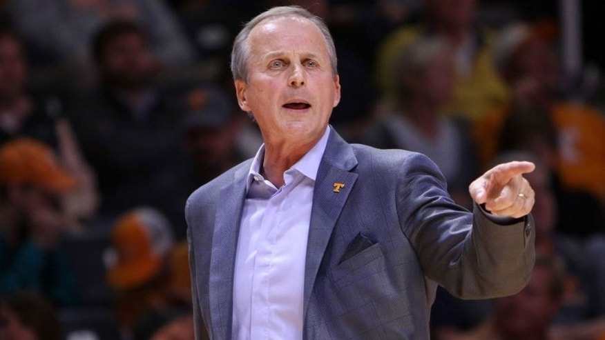 Nov 13, 2015; Knoxville, TN, USA; Tennessee Volunteers head coach Rick Barnes during the first half against the UNC Asheville Bulldogs at Thompson-Boling Arena. Mandatory Credit: Randy Sartin-USA TODAY Sports