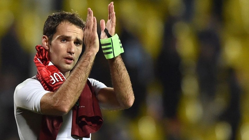 Russia's midfielder Roman Shirokov applauds supporters after the friendly football match between Russia and Portugal in Krasnodar on November 14, 2015. AFP PHOTO / KIRILL KUDRYAVTSEV (Photo credit should read KIRILL KUDRYAVTSEV/AFP/Getty Images)
