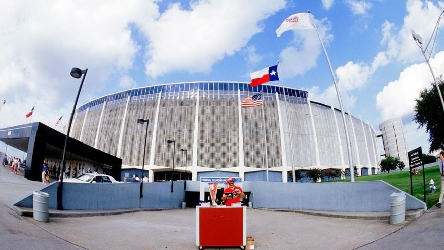 HOUSTON: A general view of the exterior of the Astrodome in Houston, Texas. The Astrodome was home to the Houston Astros from 1965 to 1999. (Photo by Rich Pilling/MLB Photos via Getty Images)