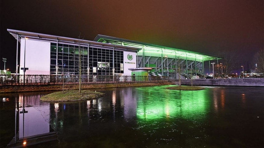 WOLFSBURG, GERMANY - JANUARY 23: A general view of the Volkswagen Arena after a friendly match between VfL Wolfsburg and Karlsruher SC at the AOK stadium on January 23, 2015 in Wolfsburg, Germany. (Photo by Stuart Franklin/Bongarts/Getty Images)