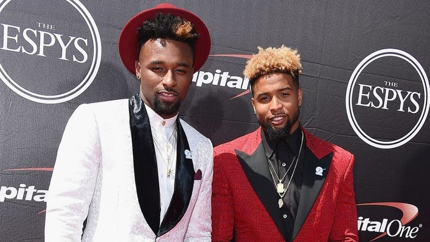 LOS ANGELES, CA - JULY 15: NFL players Jarvis Landry (L) and Odell Beckham Jr. attend The 2015 ESPYS at Microsoft Theater on July 15, 2015 in Los Angeles, California. (Photo by Steve Granitz/WireImage)