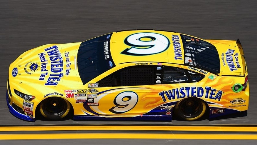 DAYTONA BEACH, FL - FEBRUARY 14: Sam Hornish Jr., driver of the #9 Twisted Tea Ford, practices for the 57th Annual Daytona 500 at Daytona International Speedway on February 14, 2015 in Daytona Beach, Florida. (Photo by Robert Laberge/NASCAR via Getty Images)