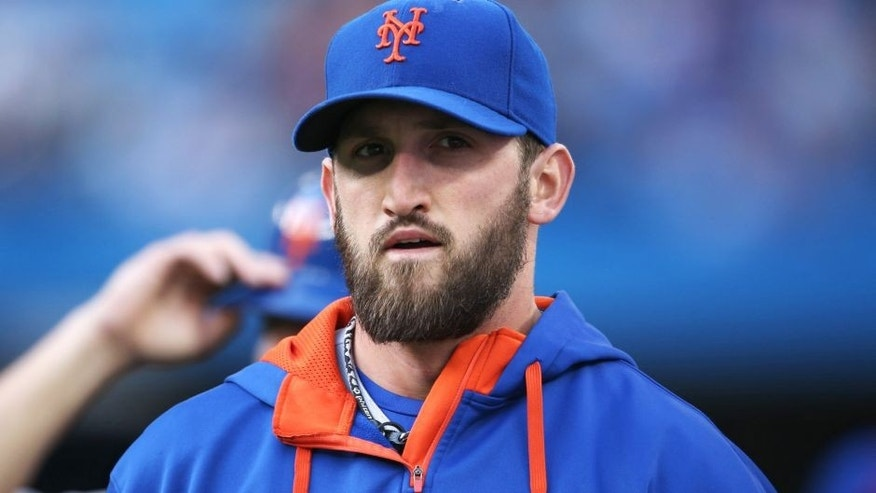 TORONTO, CANADA - JUNE 17: Jon Niese #49 of the New York Mets makes his way from the bullpen to the dugout before the start of the MLB game against the Toronto Blue Jays on June 17, 2015 at Rogers Centre in Toronto, Ontario, Canada. (Photo by Tom Szczerbowski/Getty Images)