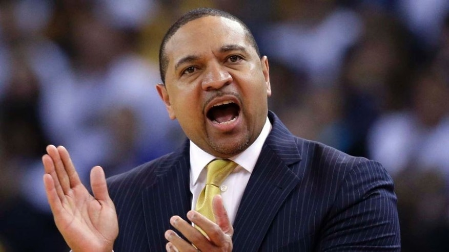 Golden State Warriors head coach Mark Jackson directs his team against the Minnesota Timberwolves.