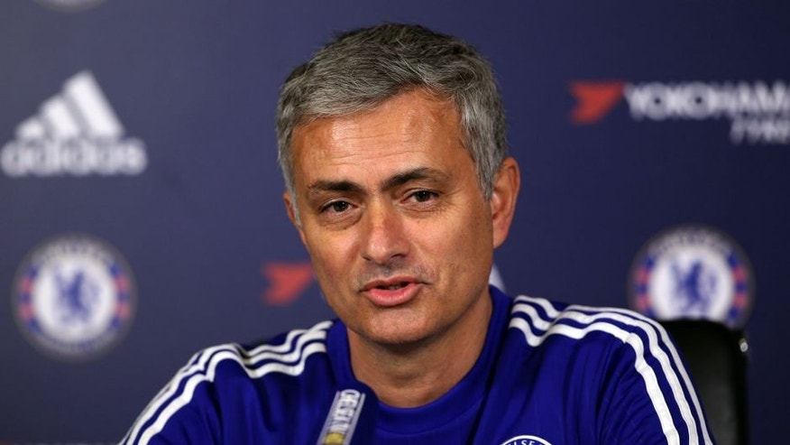 COBHAM, ENGLAND - DECEMBER 11: Chelsea manager Jose Mourinho talks to the media during a press conference at Chelsea Training Ground on December 11, 2015 in Cobham, England. (Photo by Ian Walton/Getty Images)