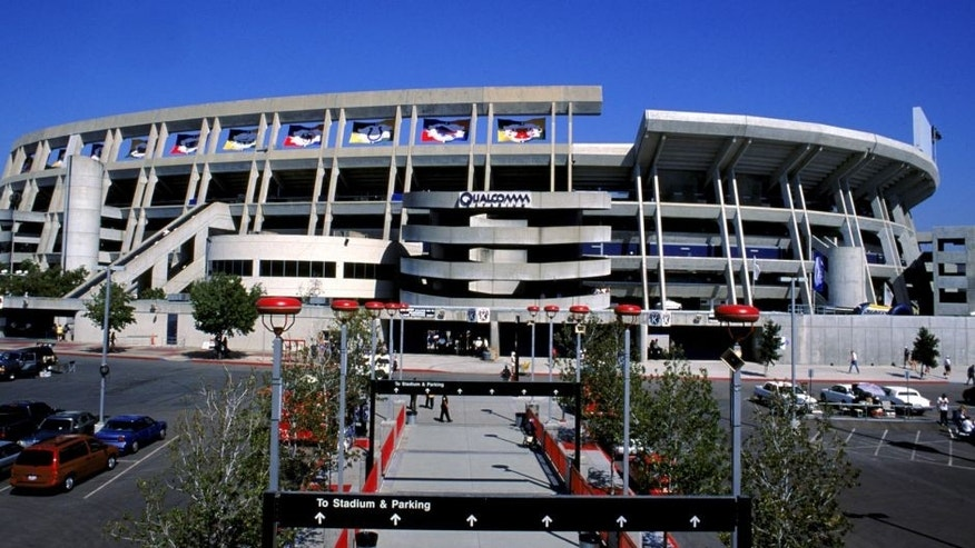 3 Oct 1999: A general view of the outside of Qualcomm Stadium taken before the game between the Kansas City Chiefs and the San Diego Chargers at Qualcomm Stadium in San Diego, California. The Chargers defeated the Chiefs 21-14. Mandatory Credit: Donald Miralle /Allsport