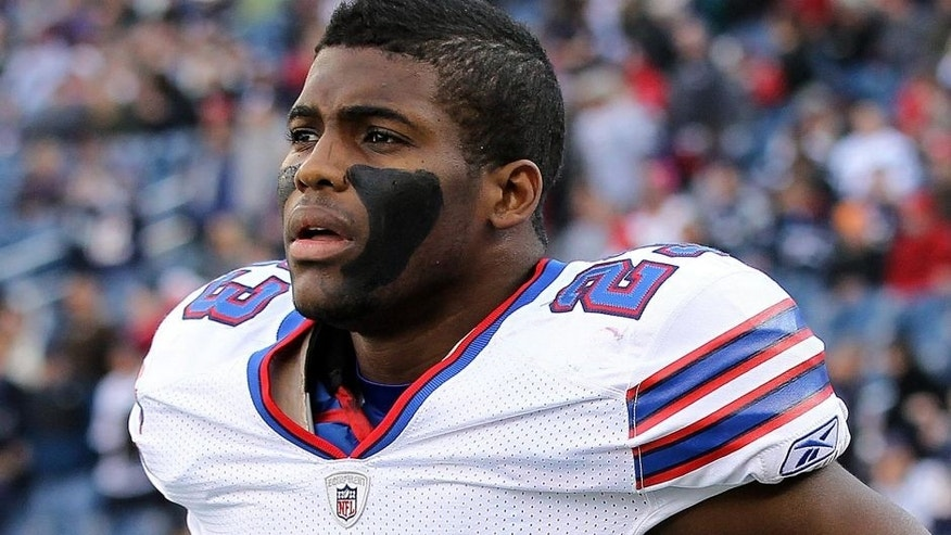 FOXBORO, MA - JANUARY 1: Aaron Williams #23 of the Buffalo Bills prepares for a game against the New England Patriots at Gillette Stadium on January 1, 2012 in Foxboro, Massachusetts. (Photo by Jim Rogash/Getty Images)