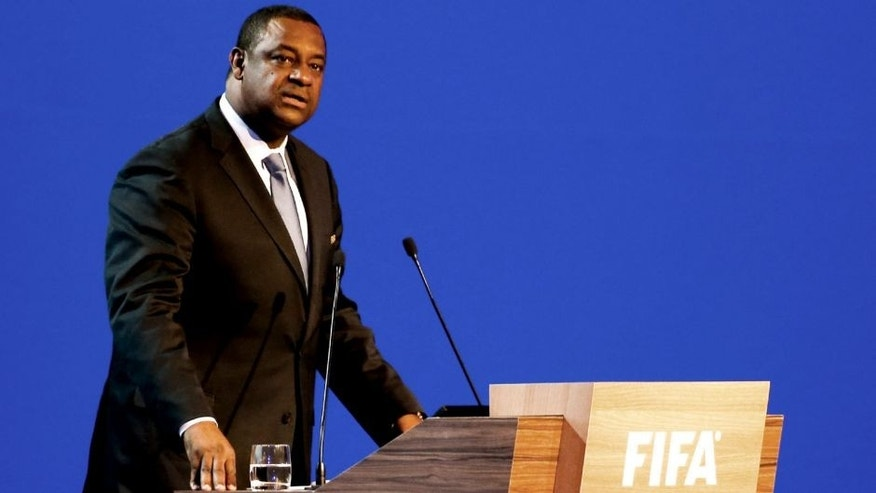 SAO PAULO, BRAZIL - JUNE 11: Chairman of the FIFA Jeffrey Webb speaks to the audience during the 64th FIFA Congress at the Expocenter Transamerica on June 11, 2014 in Sao Paulo, Brazil. (Photo by Alexandre Schneider/Getty Images)