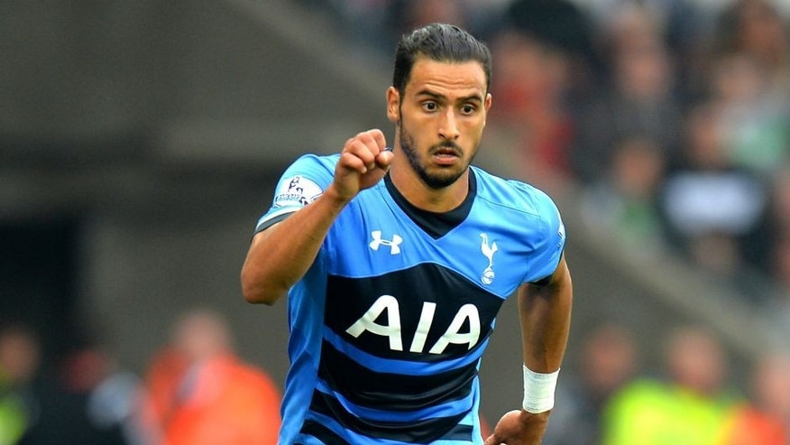 SWANSEA, WALES - OCTOBER 04: Nacer Chadli of Tottenham Hotspur during the Barclays Premier League match between Swansea City and Tottenham Hotpsur at the Liberty Stadium on October 4, 2015 in Swansea, United Kingdom. (Photo by Tony Marshall/Getty Images)