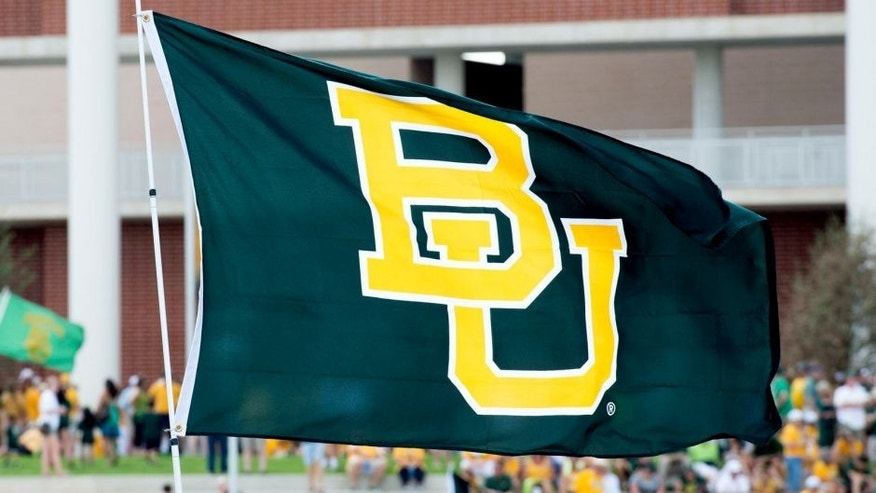 Aug 31, 2014; Waco, TX, USA; A view of a Baylor Bears flag in the stadium waterfront before the game between the Bears and the Southern Methodist Mustangs at McLane Stadium. Mandatory Credit: Jerome Miron-USA TODAY Sports