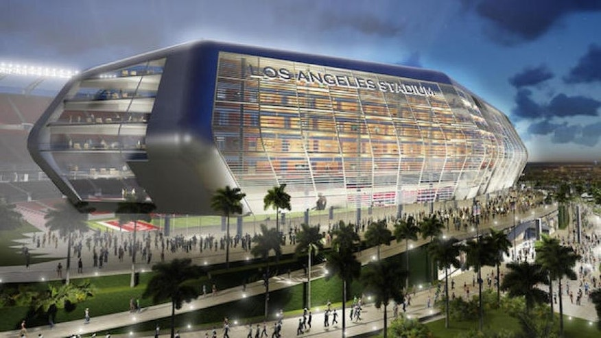 <p>A rendering of the new NFL football stadium proposed for Carson by the owners of the San Diego Chargers and Oakland Raiders.</p>