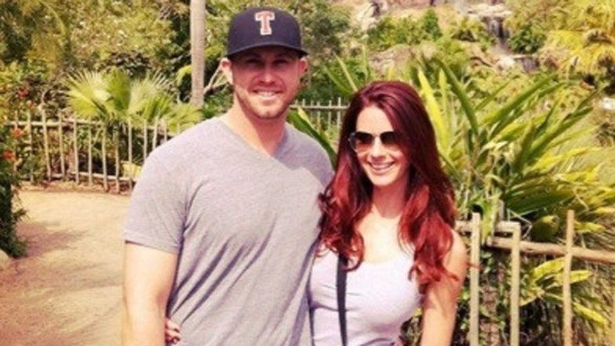 <p> Evan Longoria and Jaime Edmondson</p>