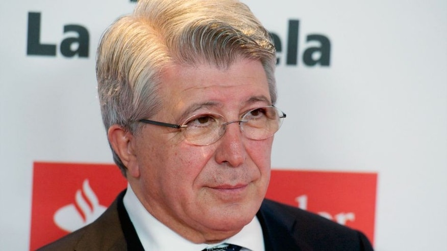 MADRID, SPAIN - DECEMBER 14: Enrique Cerezo attends 'As Del Deporte' awards 2015 photocall at Palace Hotel on December 14, 2015 in Madrid, Spain. (Photo by Juan Naharro Gimenez/WireImage)