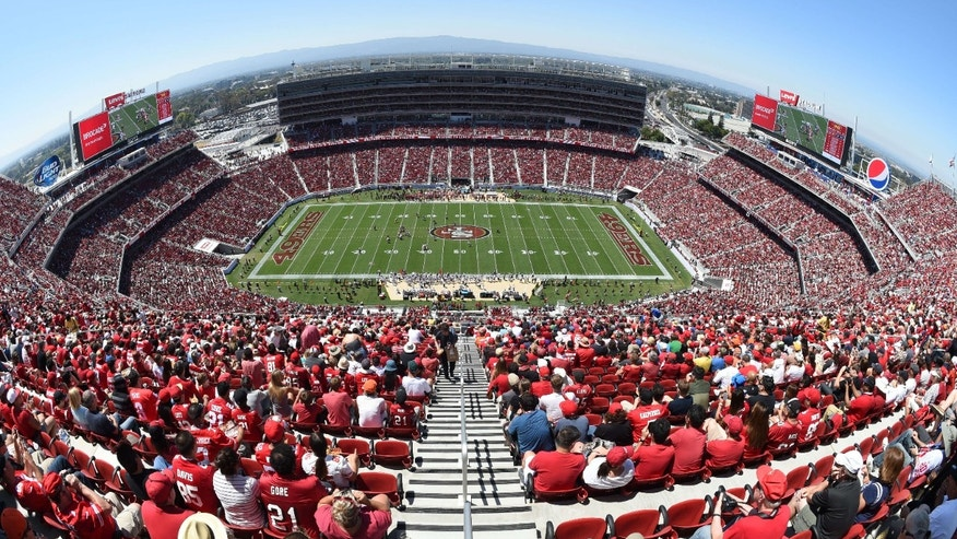 Aug. 17, 2014: General view of Levi's Stadium during the first quarter between the San Francisco 49ers and the Denver Broncos.