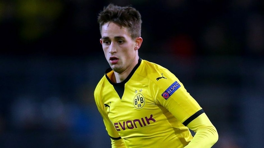 DORTMUND, GERMANY - DECEMBER 10: Adnan Januzaj of Dortmund runs with the ball during the UEFA Europa League group C match between Borussia Dortmund and PAOK FC at Signal Iduna Park on December 10, 2015 in Dortmund, Germany. (Photo by Christof Koepsel/Bongarts/Getty Images)