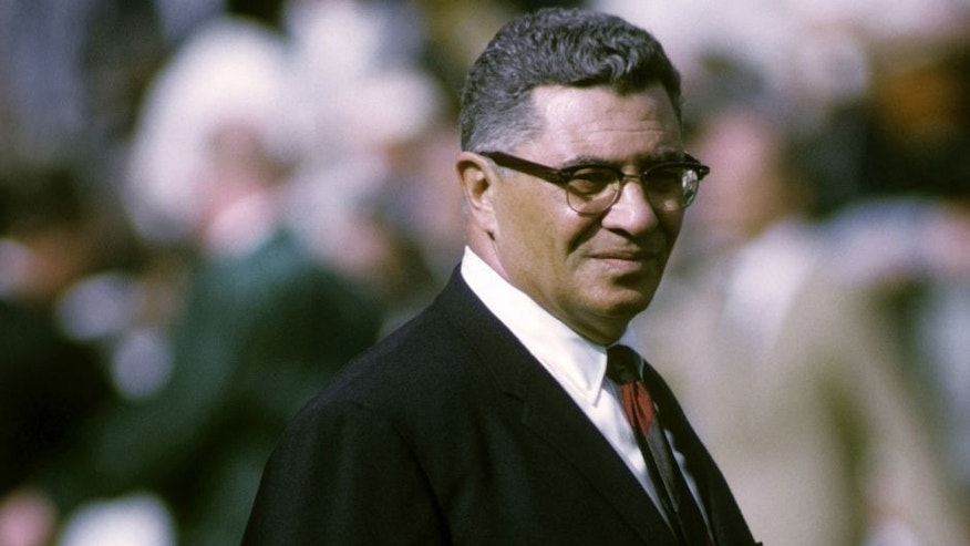 Green Bay Packers Hall of Fame head coach Vince Lombardi stalks the sidelines during Super Bowl II, a 33-14 victory over the Oakland Raiders on January 14, 1968, at the Orange Bowl in Miami, Florida. (Photo by Tony Tomsic/Getty Images)
