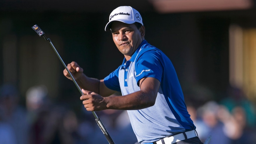 Fabian Gomez during the final round of the Sony Open, Sunday, Jan. 17, 2016, in Honolulu.