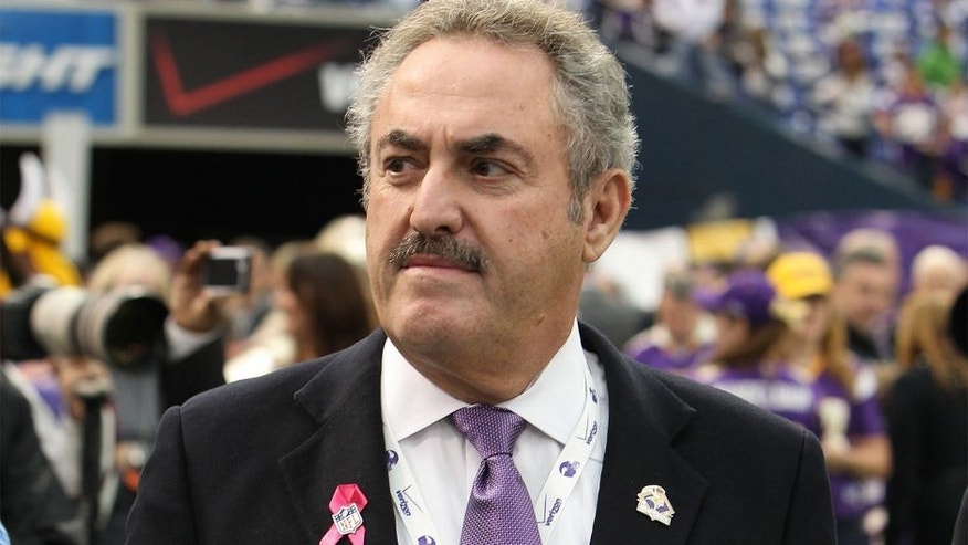 Oct 7, 2012; Minneapolis, MN, USA; Minnesota Vikings owner Zygi Wilf looks on prior to the game between the Tennessee Titans and Minnesota Vikings at the Metrodome. Mandatory Credit: Brace Hemmelgarn-USA TODAY Sports