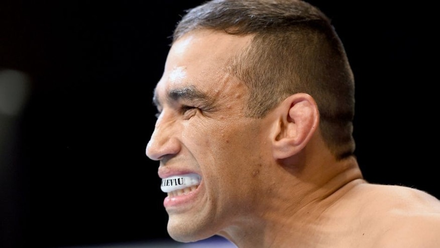 MEXICO CITY, MEXICO - JUNE 13: Fabricio Werdum of Brazil enters the Octagon before facing Cain Velasquez of the United States in their UFC heavyweight championship bout during the UFC 188 event inside the Arena Ciudad de Mexico on June 13, 2015 in Mexico City, Mexico. (Photo by Josh Hedges/Zuffa LLC/Zuffa LLC via Getty Images)