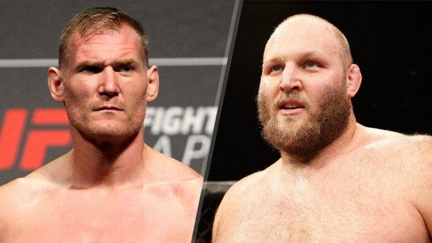 Josh Barnett during the UFC weigh-in at the Saitama Super Arena on September 25, 2015 in Saitama, Japan. (Photo by Mitch Viquez/Zuffa LLC/Zuffa LLC via Getty Images) Ben Rothwell celebrates after defeating Alistair Overeem in their heavyweight bout during the UFC Fight Night event at Foxwoods Resort Casino on September 5, 2014 in Mashantucket, Connecticut. (Photo by Josh Hedges/Zuffa LLC/Zuffa LLC via Getty Images)