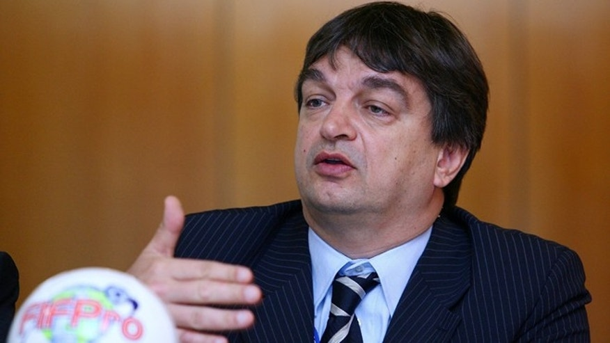 SYDNEY, AUSTRALIA - MAY 29: FIFA Director of International Relations, Jerome Champagne speaks during the FIFPro Asia divisional meeting held at The Crowne Plaza Hotel, Darling Harbour on May 28, 2008 in Sydney, Australia.  (Photo by Mark Nolan/Getty Images)
