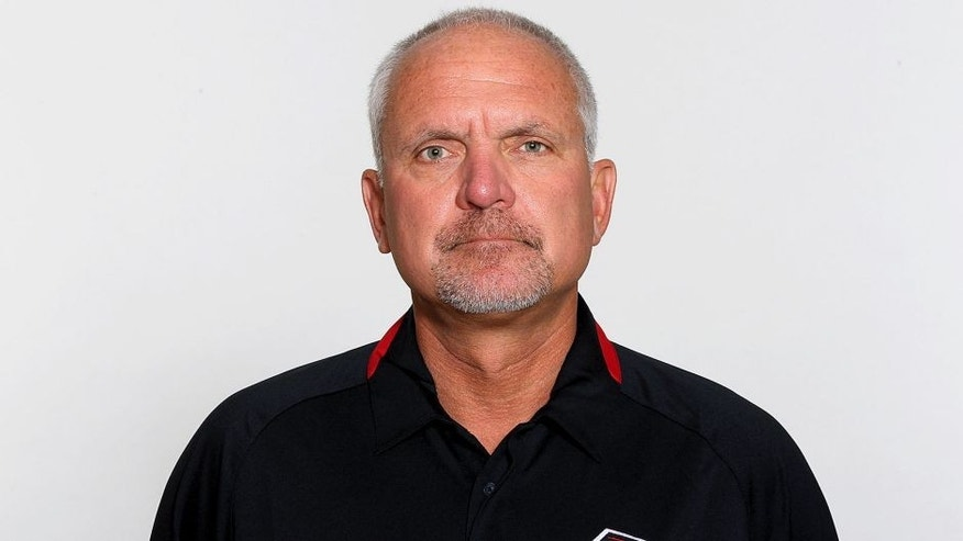FLOWERY BRANCH, GA - CIRCA 2011: In this handout image provided by the NFL, Bob Bratkowski of the Atlanta Falcons poses for his NFL headshot circa 2011 in Flowery Branch, Georgia. (Photo by NFL via Getty Images)