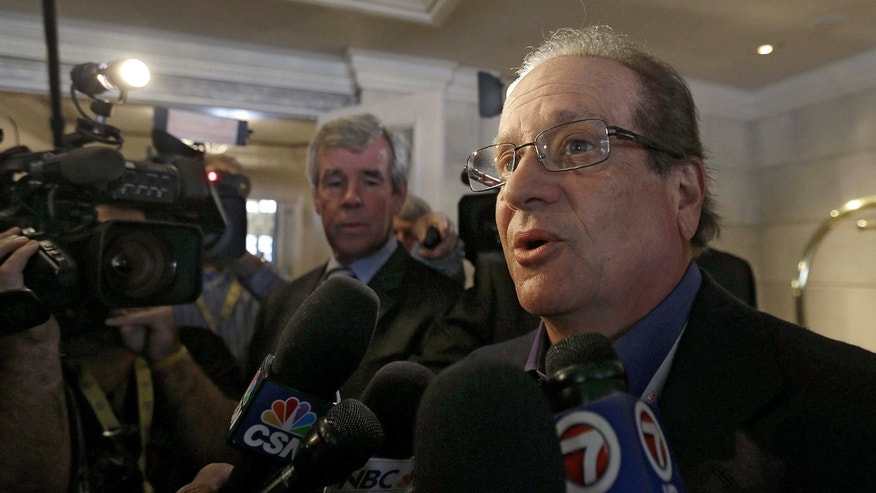 FILE- In this May 20, 2015, file photo, Dean Spanos, team president and CEO of the San Diego Chargers, speaks to the media during the NFL's spring meetings in San Francisco.