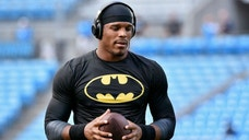 CHARLOTTE, NC - AUGUST 28: Cam Newton #1 of the Carolina Panthers warms up before playing the New England Patriots during their preseason NFL game at Bank of America Stadium on August 28, 2015 in Charlotte, North Carolina. (Photo by Grant Halverson/Getty Images)