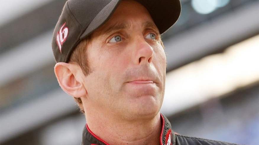 FORT WORTH, TX - NOVEMBER 06: Greg Biffle, driver of the #16 Ortho Ford, looks on during Service King qualifying for the NASCAR Sprint Cup Series AAA Texas 500 at Texas Motor Speedway on November 6, 2015 in Fort Worth, Texas. (Photo by Brian Lawdermilk/Getty Images for Texas Motor Speedway)