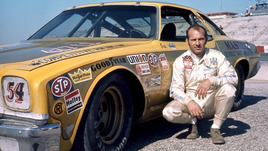1973: Lennie Pond with his Chevrolet during his first full season on the NASCAR Cup circuit. Pond ran 23 of the 28 Cup races during the year, taking nine top-10 finishes. (Photo by ISC Images & Archives via Getty Images)