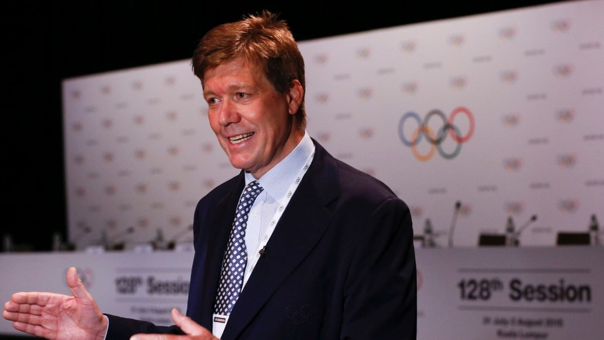Richard Budgett, the IOC medical director, on a July 30, 2015 file photo.