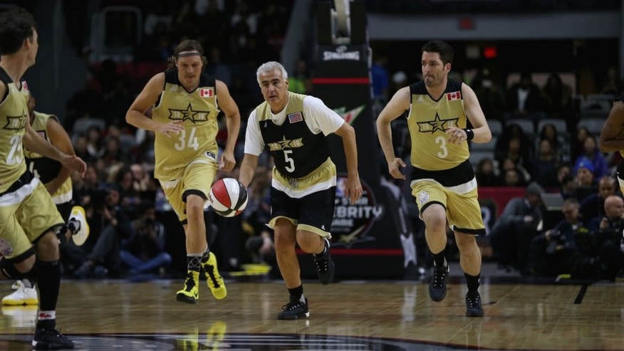 <p>Marc Lasry of Team USA dribbles during the NBA All-Star Celebrity Game Presented by Mountain Dew as part of 2016 All-Star Weekend at the Ricoh Coliseum in Toronto.</p>