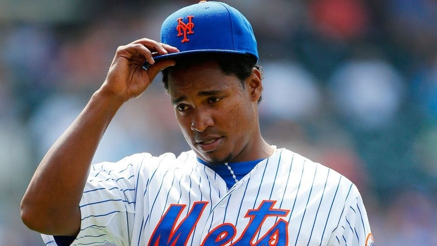 NEW YORK, NY - JULY 12: Jenrry Mejia #58 of the New York Mets in action against the Arizona Diamondbacks at Citi Field on July 12, 2015 in the Flushing neighborhood of the Queens borough of New York City. The Mets defeated the Diamondbacks 5-3. (Photo by Jim McIsaac/Getty Images)