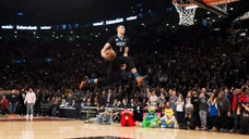 <p>Minnesota Timberwolves' Zach LaVine slam dunks the ball during the NBA all-star skills competition in Toronto.</p>
