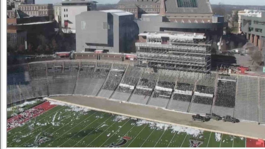 <p>UC Athletics has a camera recording all of the action as Nippert Stadium undergoes a facelift.<br> </p>
