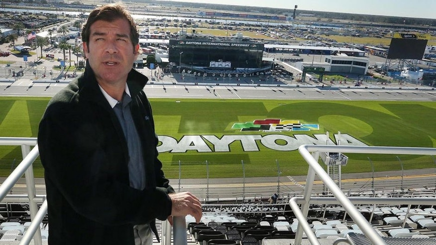 Joie Chitwood III, President of Daytona International Speedway Motorsports Stadium, gives an exclusive tour of the impressive new stadium facilities on Friday, Feb. 12, 2016 in Daytona Beach, Fla. (Stephen M. Dowell/Orlando Sentinel/TNS via Getty Images)