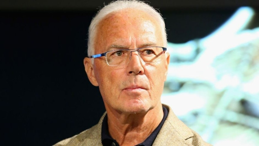 MUNICH, GERMANY - MAY 09: Franz Beckenbauer, Honorary President of FC Bayern Muenchen attends the opening of the special exhibition 'Kaiser. Kalle. Bomber.' at FCB Erlebniswelt museum on May 9, 2015 in Munich, Germany. (Photo by Alexander Hassenstein/Bongarts/Getty Images)
