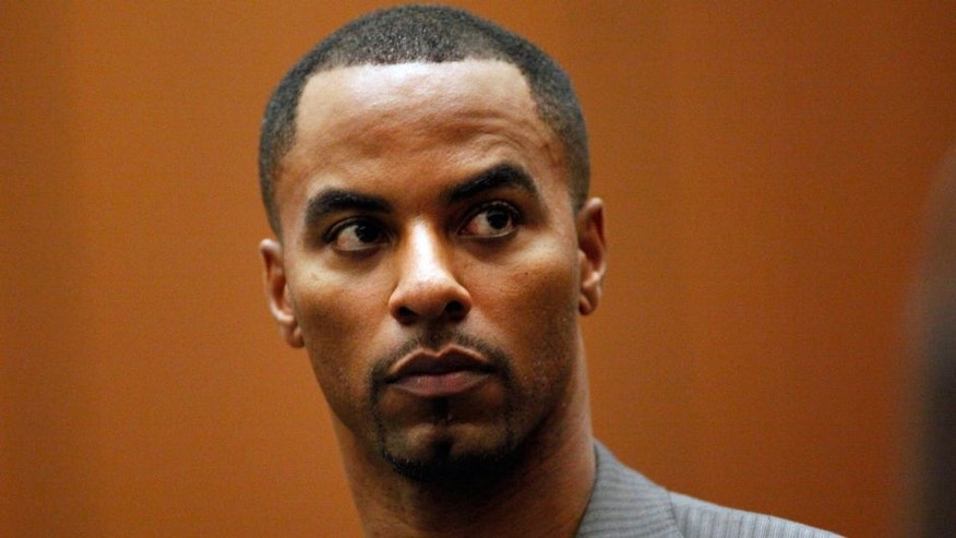 <p>Former NFL safety Darren Sharper appears in Los Angeles Superior Court on Thursday, Feb. 20, 2014, in Los Angeles. Sharper has pleaded not guilty to charges that he drugged and raped two women he met at a West Hollywood night club. (AP Photo/Los Angeles Times, Bob Chamberlin, Pool)</p>