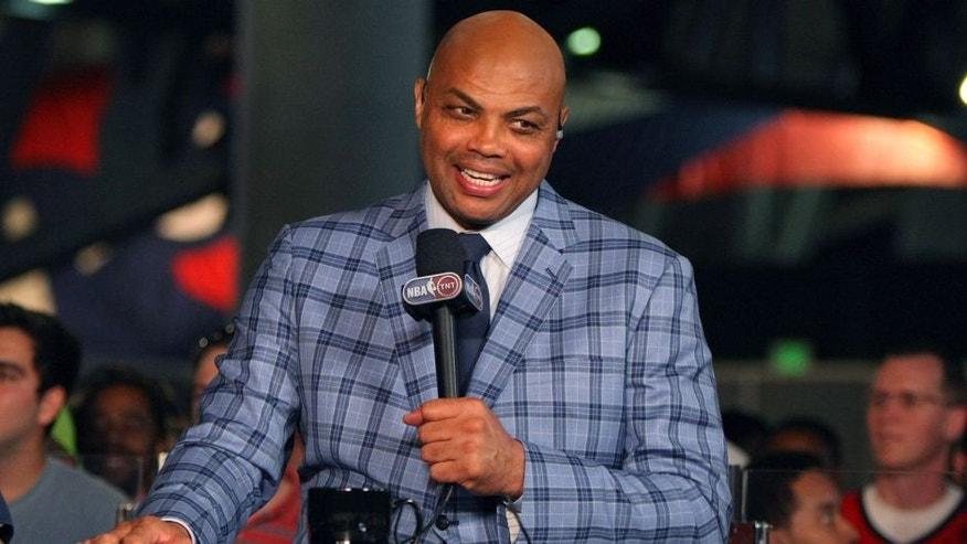 May 20, 2015; Atlanta, GA, USA; Former NBA player and current TNT television personality Charles Barkley prior to game one of the Eastern Conference Finals of the NBA Playoffs between the Atlanta Hawks and the Cleveland Cavaliers at Philips Arena. Mandatory Credit: Brett Davis-USA TODAY Sports