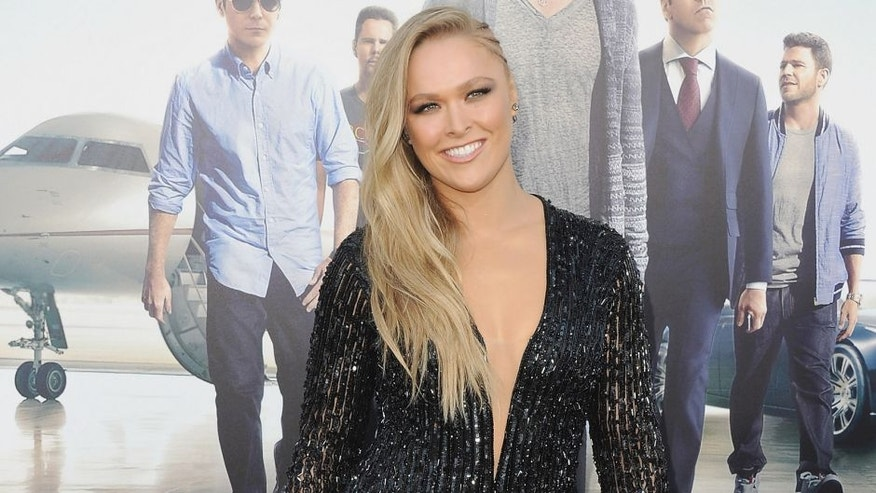 "WESTWOOD, CA - JUNE 01: Ronda Rousey arrives at the Los Angeles Premiere ""Entourage"" at Regency Village Theatre on June 1, 2015 in Westwood, California. (Photo by Jon Kopaloff/FilmMagic)"