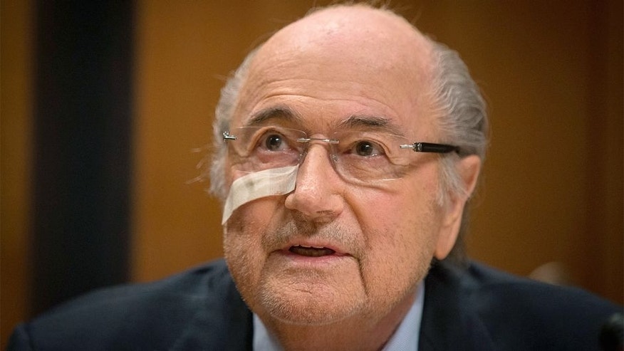 "ZURICH, Dec. 22, 2015-- FIFA's suspended president Sepp Blatter attends a press conference in Zurich, Switzerland, Dec. 21, 2015. In response to the eight-year ban from the FIFA independent Ethic committee, Blatter on Monday said ""I will fight!"". (Xinhua/Xu Jinquan via Getty Images)"