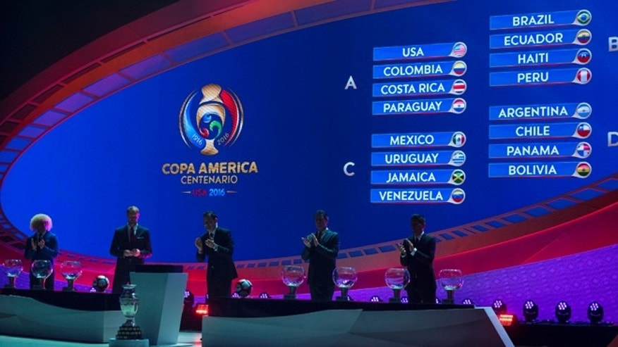The official 2016 Copa Centenario Official Draw in New York on Sunday, Feb. 21, 2016.