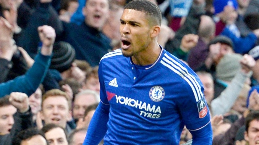 Chelsea's English midfielder Ruben Loftus-Cheek scoring his team's second goal during the FA Cup third-round football match between Chelsea and Scunthorpe United at Stamford Bridge in London on January 10, 2016. AFP PHOTO / GLYN KIRK RESTRICTED TO EDITORIAL USE. NO USE WITH UNAUTHORIZED AUDIO, VIDEO, DATA, FIXTURE LISTS, CLUB/LEAGUE LOGOS OR 'LIVE' SERVICES. ONLINE IN-MATCH USE LIMITED TO 75 IMAGES, NO VIDEO EMULATION. NO USE IN BETTING, GAMES OR SINGLE CLUB/LEAGUE/PLAYER PUBLICATIONS. / AFP / GLYN KIRK (Photo credit should read GLYN KIRK/AFP/Getty Images)